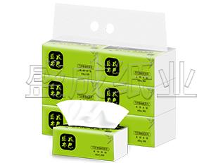 盛成本色抽纸4层加厚软抽纸巾6包装